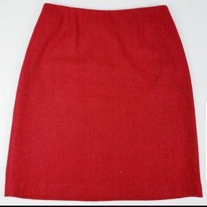 Worthington size 10 petite red wool skirt.